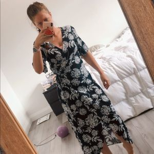 Floral Who What Wear Wrap Dress